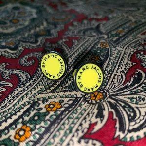 Marc by Marc Jacobs Yellow Enamel Stud Earrings
